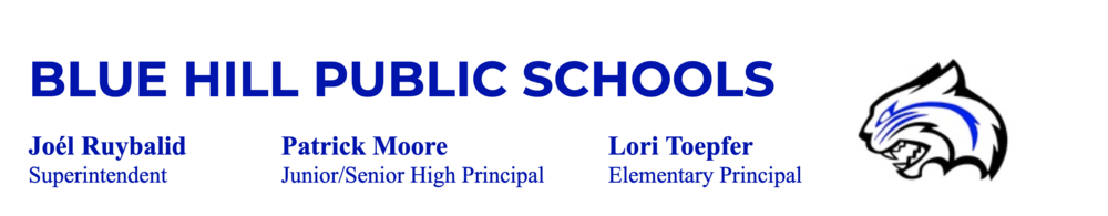 Blue Hill School's Continuity of Learning Plan - Letter to Parents