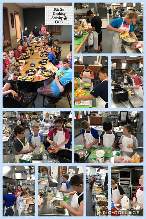 6th grade math class~ cooking activity at CCC