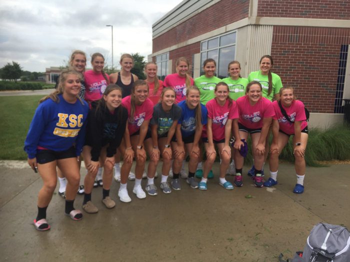 Vball players in Seward. Great 2 days of getting better!