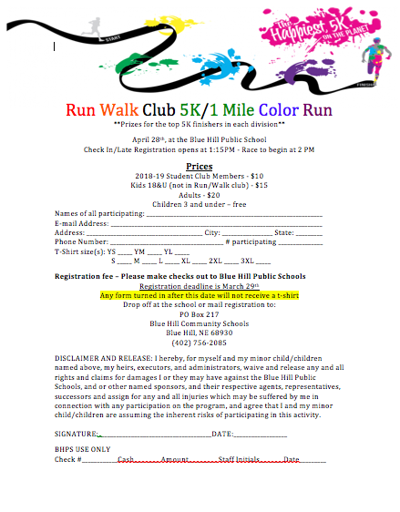 Color Run Registration