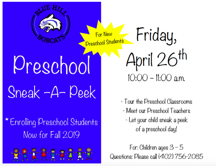 PreK Sneak a Peek