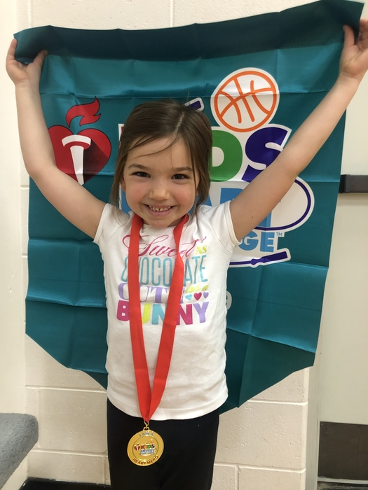 Haley Egbers raised the most among our entire elementary raising $265! Way to go Haley!!