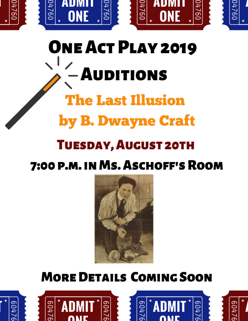 one act auditions 2019