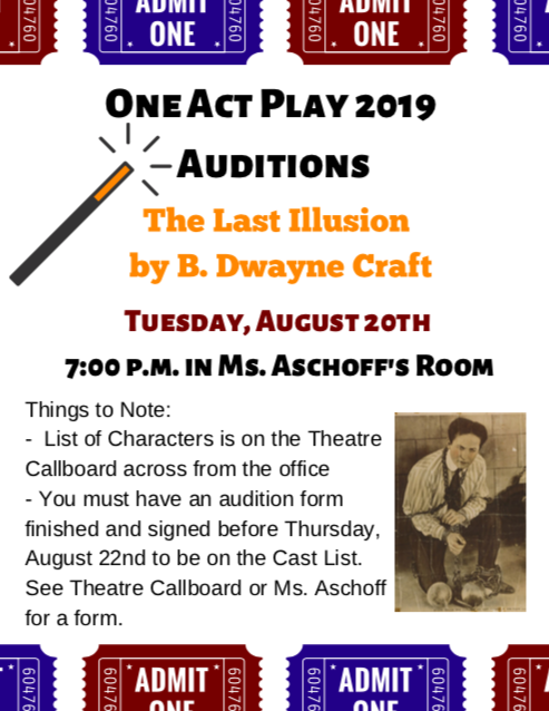 One Act Auditions